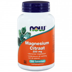 Magnesium Citraat 200 mg 100 tabs